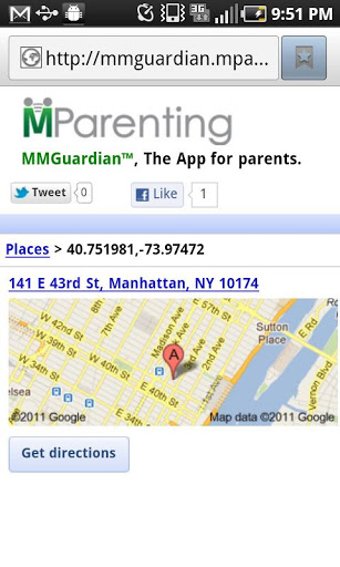 MMGuardian Parental Control Location Application